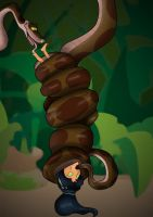 Kaa and Jasmine by Silrath