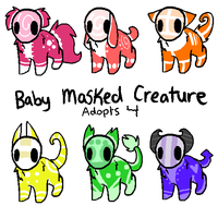 Baby Masked Creature Adopts 4~ CLOSED by RCAdopts