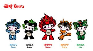 Mascots of the Olympic games by karmacodedd