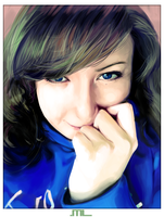 Painting portrait - Whit by MLeth
