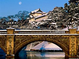 Japan Tokyo Imperial Palace by Octavain