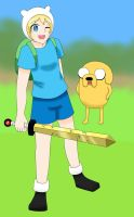 Adventure Time - Finn and Jake by sukirai14