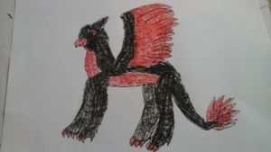 my Griff oc, bloodfeathers by kingmidnight