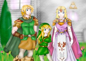 Trade: Zelda, Link and Tetra by Lady-of-Link