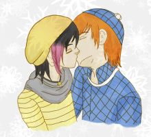 First Snow Together... But not first kiss... by Sparvely