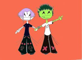 beastboy and raven 2 by disco-overdose