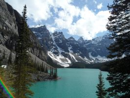 Lake Moraine: A Blue Jewel by sweetstop7