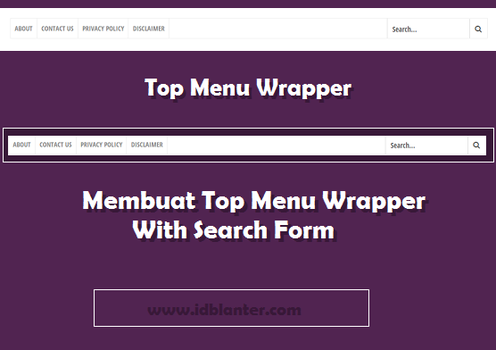 Create Top Menu With Search Form by Idblanter