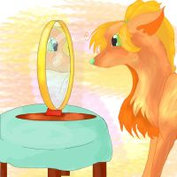 Assol with a mirror by Assol-wolf