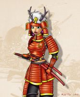 Samurai Girl by penguin-commando