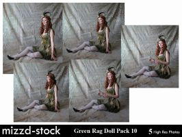 Green Rag Doll Pack 10 by mizzd-stock