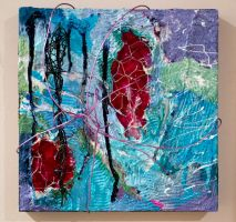 'Evolved' by Ryan Schingeck Mixed Media Abstract by rschingeck