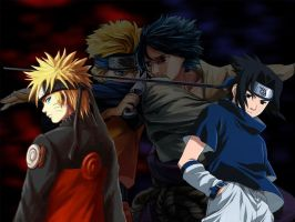 Naruto and Saskue: Arch Rivals by Zane9099