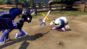 Sparring with Meta Knight by darkwee009