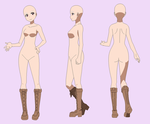 BASE 272 - girl with boots by Rainfall-Bases