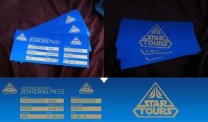 Star Tours 2 Boarding Passes by RurouniVash