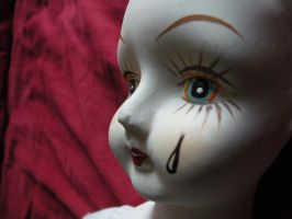 STOCK IMAGE doll head Pierrot by Lamollesse