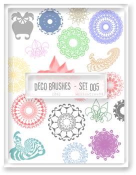 decorative brushes - set 005 by willowtree84