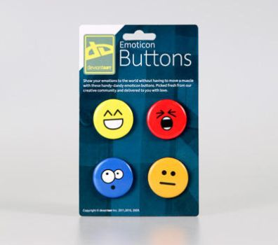 Emoticon Buttons by deviantWEAR