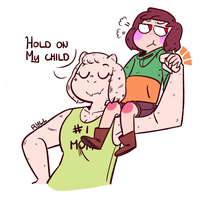Strong Mom by ryllcat21
