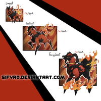 Fakemon: Fire starter by sifyro