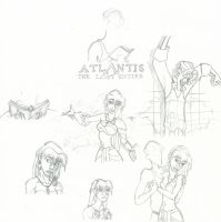 Atlantis Sketch Dump by Kawena-Ulalena