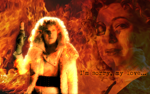 River Song widescreen wallpaper by Leda74