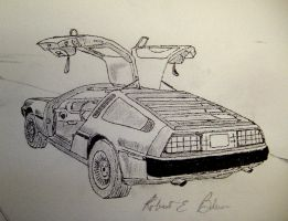 DeLorean Sketch 6 by DeloreanREB