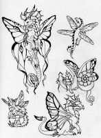 Dragon Tattoos by Dragonmistral