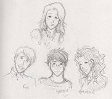 Harry Potter character sketch3 by kaseyu