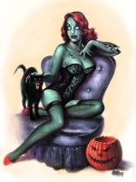 Zombie Pin-up Girl by Scott Jackson by monstermangraphics