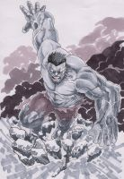 running hulk by antt029
