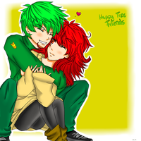 Flippy and Flaky again :D because i love they ! by xXChibimotionXx