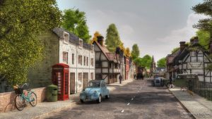 Teddlestone-Village-Crossroads by GillyB