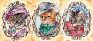 Dapper Cats by CleverAvian