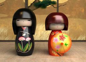 Kokeshi Doll B by okenimak