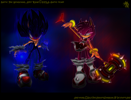 DS Sonic EV and Dark Amy EV-WP by Fly-Sky-High
