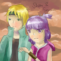 Senma and Shion by Ashenjay