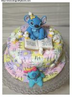Stitch Cake by dragonflydoces