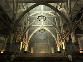 Dragonsreach Hall by DamaXion