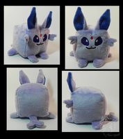 Espeon Cube Plushie by racingwolf