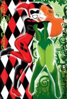 The Silhouettes of Harley Quinn and Poison Ivy by HalloDream