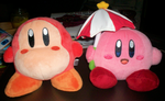 Parasol Kirby and Waddle Dee by KirbyIsLove
