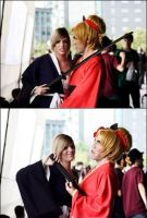 Len and Rin Kagamine - Hachi Hachi by MickySF02
