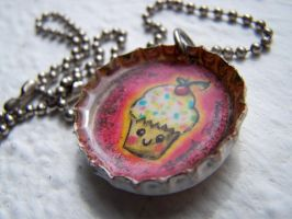 cupcake necklace by Zephalynne