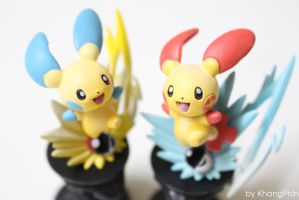 Minun and Plusle by KhangPhin