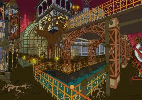 Crazy Steampunk City lines by masha88