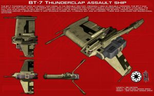BT-7 Thunderclap assault ship ortho [2][New] by unusualsuspex