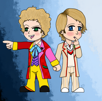Sixie and Fivie Chibis by JacksonianFanBoy