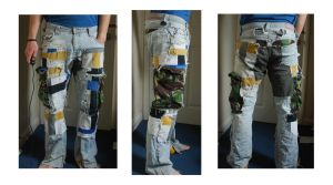 Patched jeans: 2nd generation by PlasticusForkus